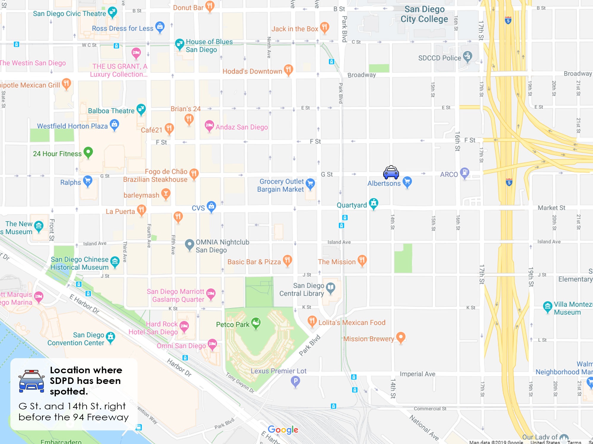 San Diego DUI Checkpoints G street Downtown