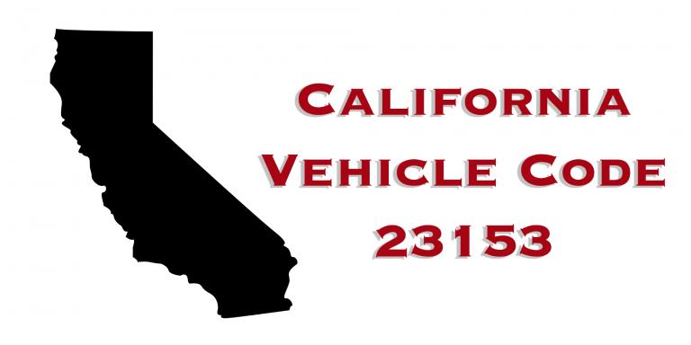 California Vehicle Code 23153