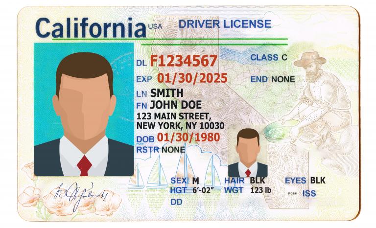 REAL California ID